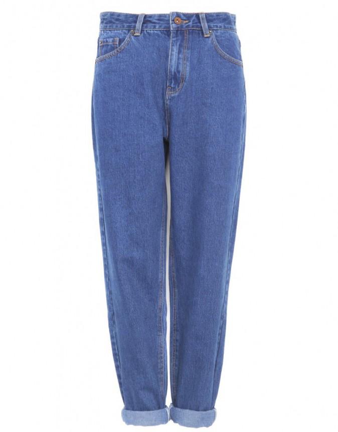 Jean taille haute, Pull & Bear 150 €