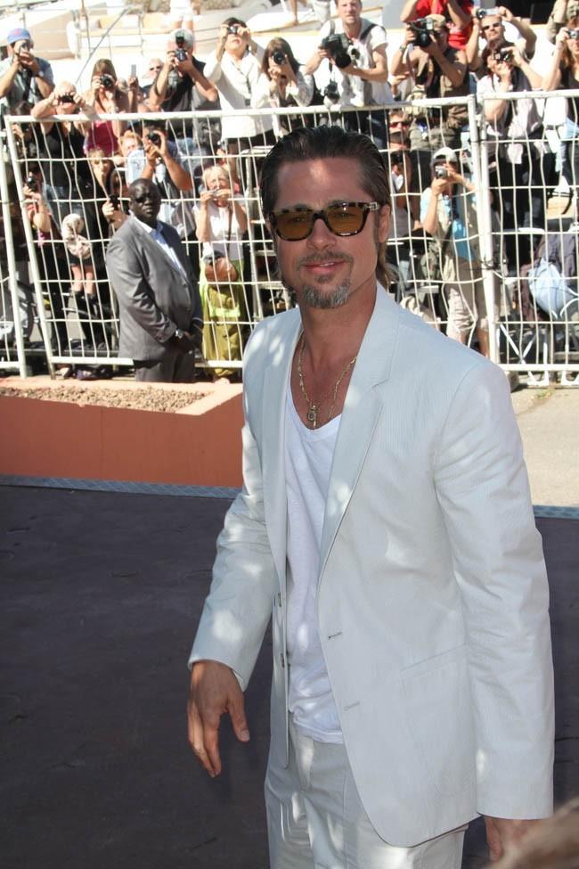 Même à l'ombre Brad Pitt est lumineux !