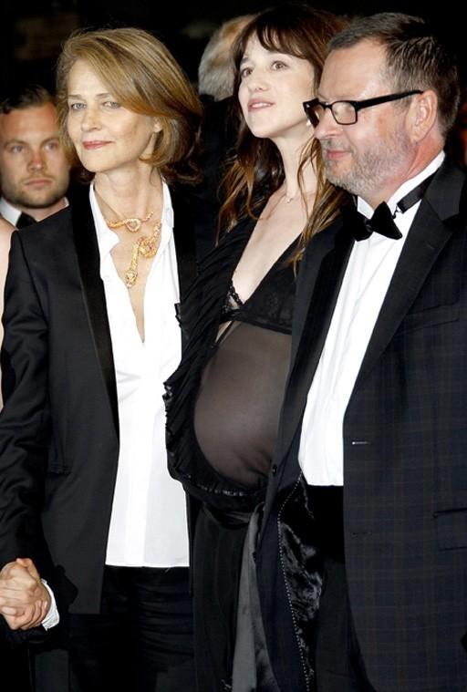 Avec Charlotte Rampling et le réalisateur Lars Von Trier
