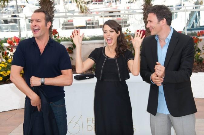 L'équipe de The Artist au grand complet. Le réalisateur Michel Hazanavicius peut compter sur ses acteurs pour assurer la promo !