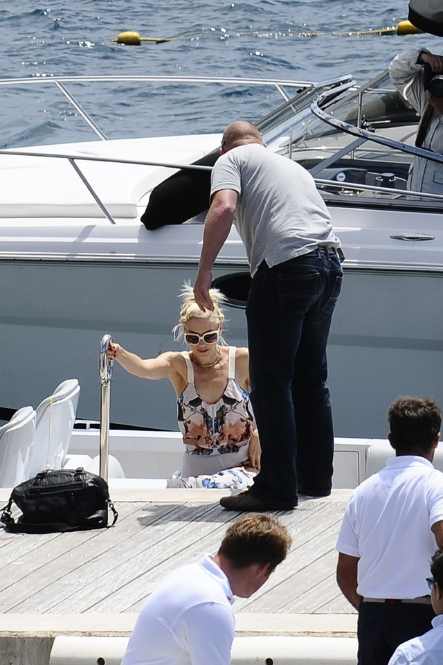 Gwen Stefani à l'hôtel Eden Roc à Cannes, le 15 mai 2011.