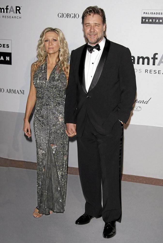 Cannes 2010 : le couple de stars Russel Crowe et Danielle Spencer, toujours glamour ?
