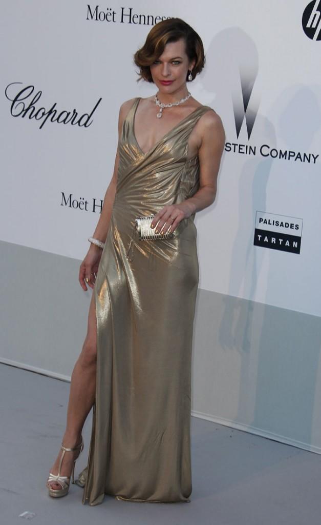 Cannes 2011 : Gala de l'AmfAR : Milla Jovovich