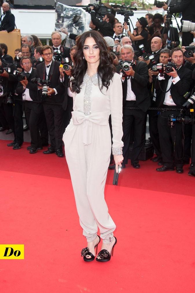 Festival de Cannes 2011 : la combinaison avec noeud Azzaro de Paz Vega