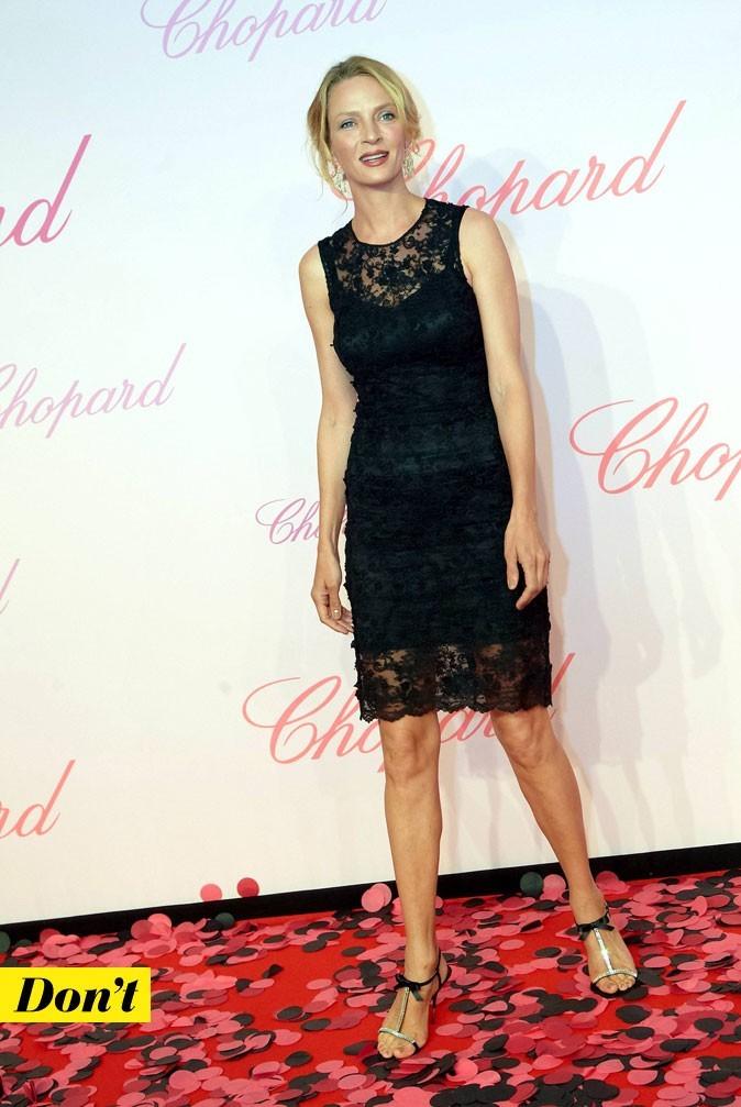 Festival de Cannes 2011 : la robe en dentelle Dolce & Gabbana d'Uma Thurman