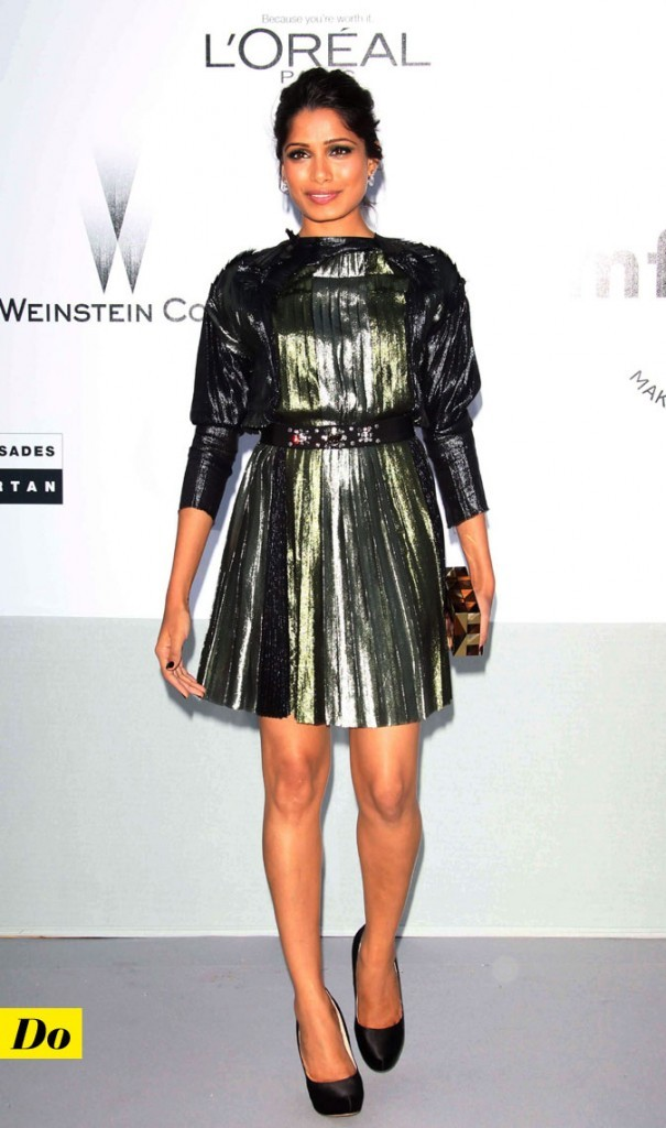 Festival de Cannes 2011 : la robe lamée Lanvin de Freida Pinto
