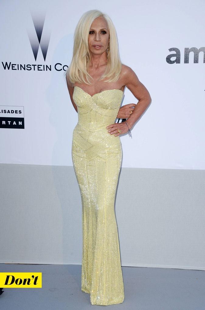 Festival de Cannes 2011 : la robe longue à sequins Versace de Donatella Versace
