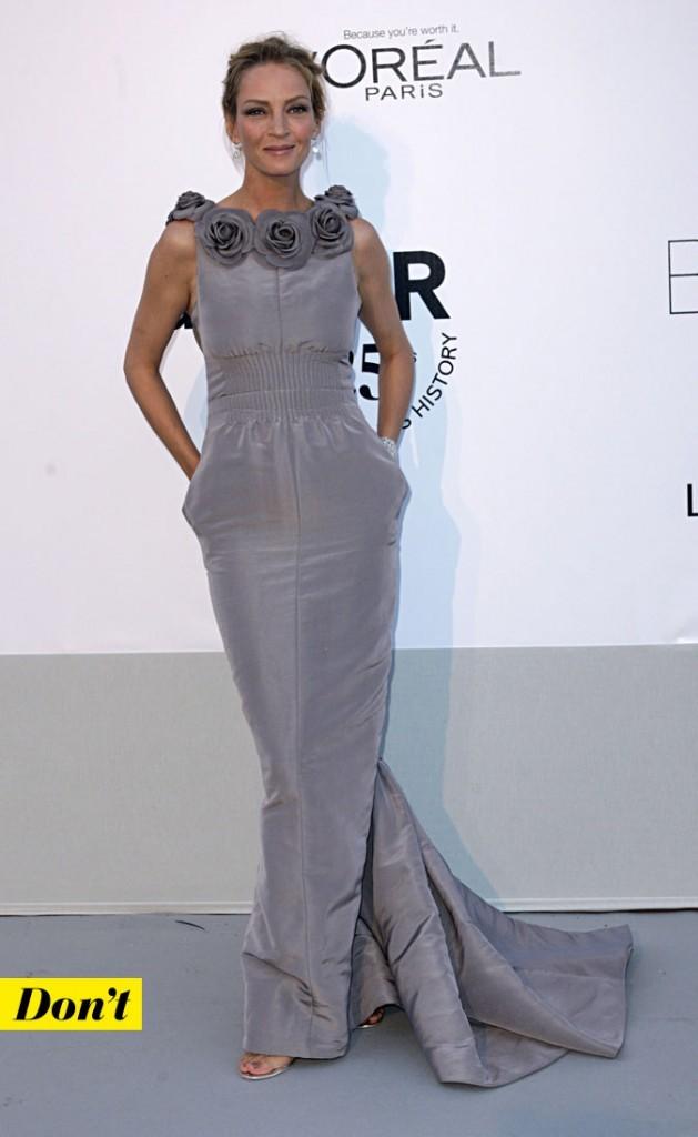 Festival de Cannes 2011 : la robe longue Chanel d'Uma Thurman