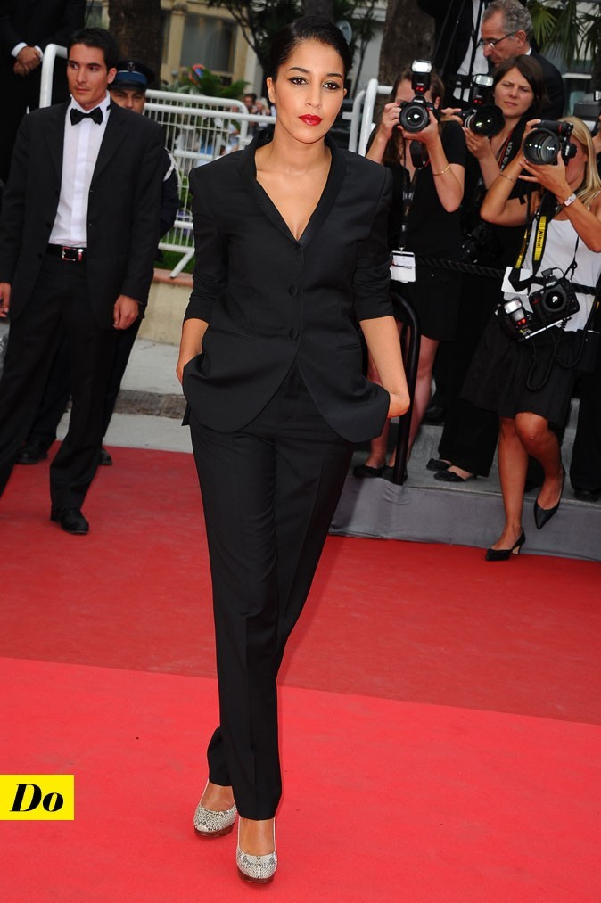 Festival de Cannes 2011 : le costume pantalon noir de Leïla Bekhti