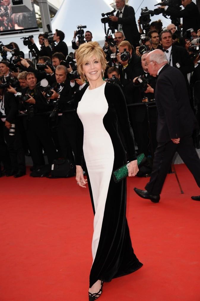 Jane Fonda en Stella McCartney (jeudi 17 mai 2012)