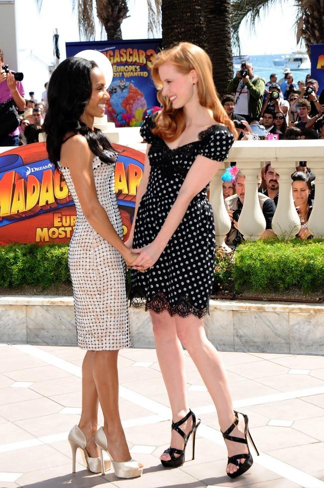 Jada Pinkett Smith et Jessica Chastain le 17 mai 2012 à Cannes