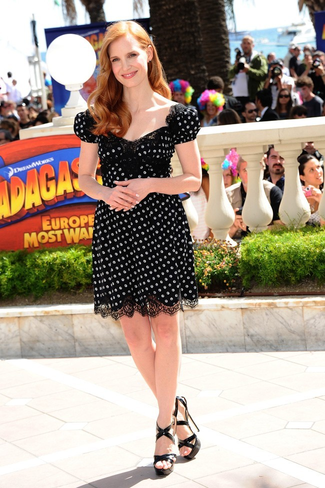 Jessica Chastain, so girly !