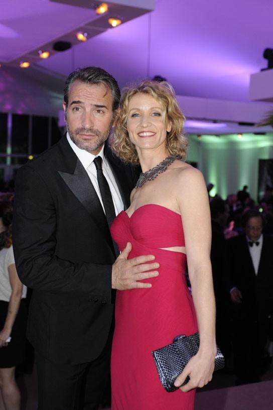 Jean Dujardin et Alexandra Lamy au dîner de gala du Festival le 20 mai 2012
