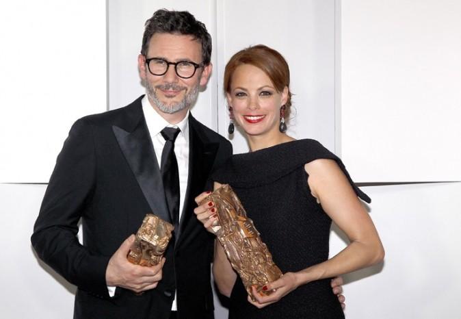 Avec son chéri Michel Hazanavicius