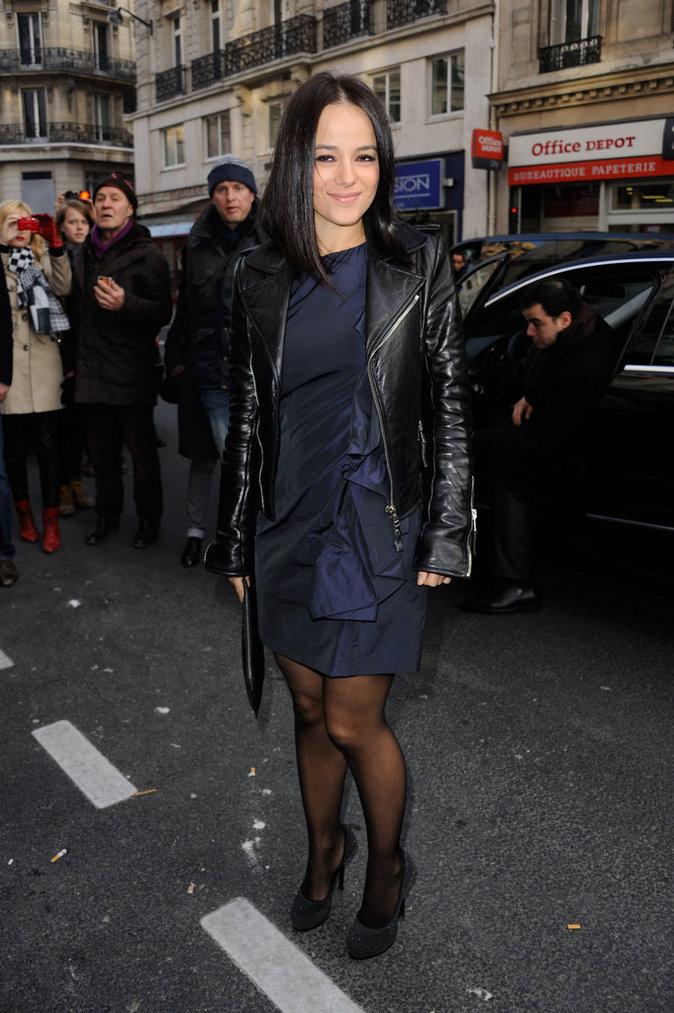 Version plus dark pour Alizée au défilé Galliano, Paris, Mars 2013