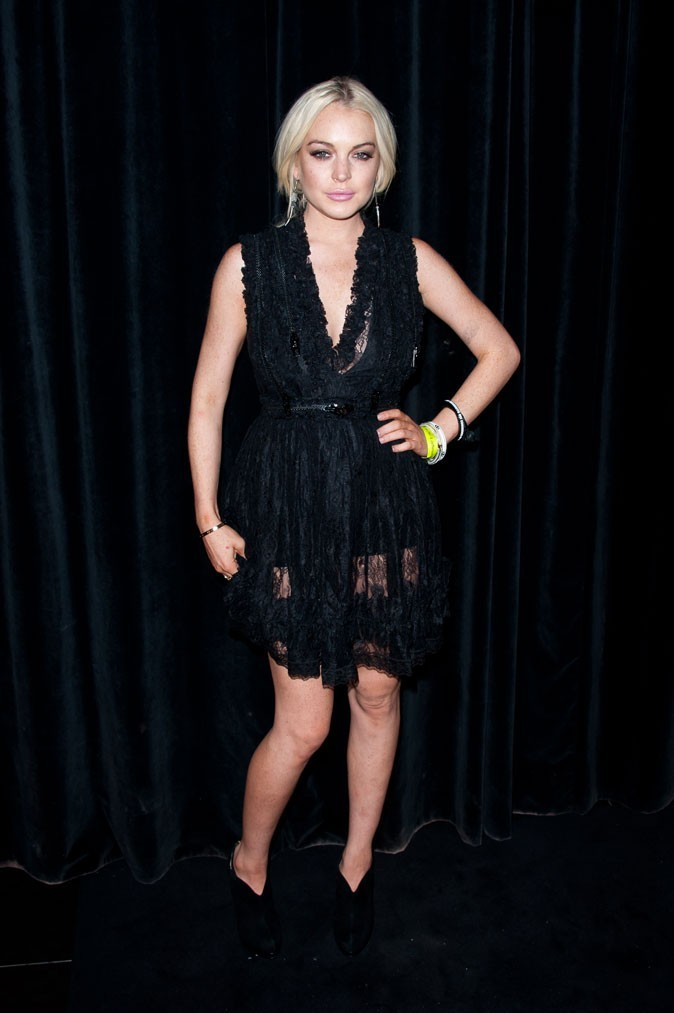 Défilé Givenchy : Lindsay Lohan