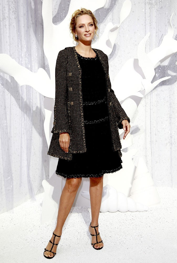 Défilé Chanel : Uma Thurman