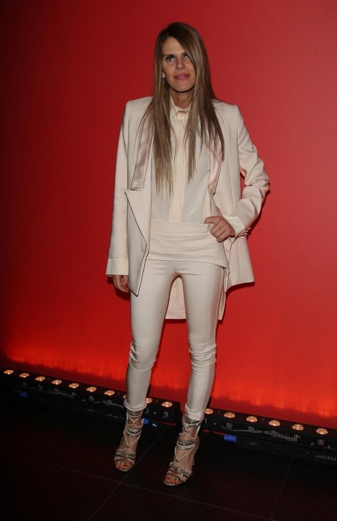 Anna Dello Russo à la soirée Givenchy