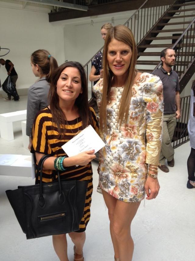 Fashion Week Couture Paris hiver 2013 : défilé Maison Martin Margiela : Anna Dello Russo et Leslie, journaliste pour Public !