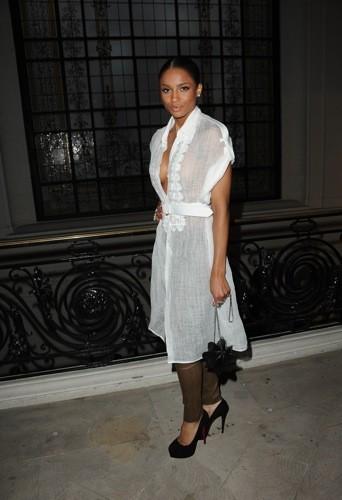 Ciara au défilé Jean-Paul Gaultier printemps été 2012