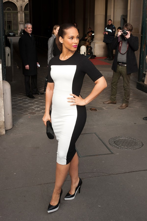 Alicia Keys à son arrivée au défilé Stella McCartney !