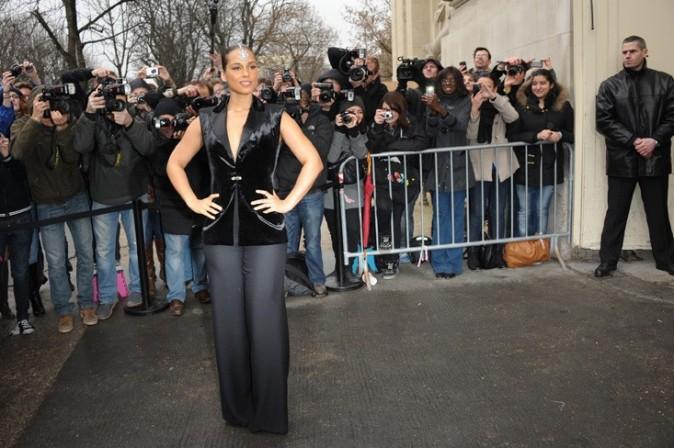 L'arrivée d'Alicia Keys au Grand Palais !