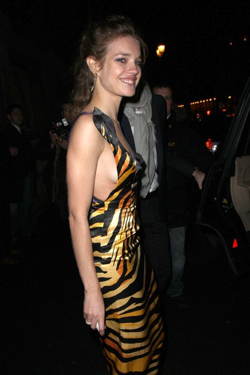 Natalia Vodianova à la soirée Louis Vuitton