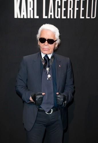 Karl Lagerfeld à la soirée Hogan