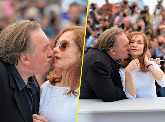 Cannes 2015 : Gérard Depardieu et Isabelle Huppert : trop d'sentiments avant la montée des marches !