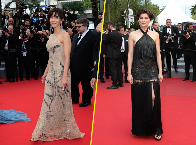 Cannes 2015 : Sophie Marceau et Laetitia Casta : élégance à la française pour la dernière montée des marches !