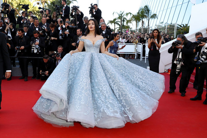 Aishwarya Rai en Michael Cinco, Cannes le 19 mai
