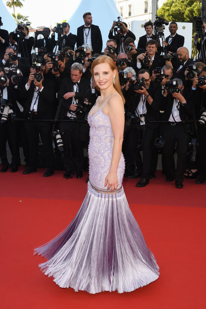 Jessica Chastain en Givenchy, Cannes le 19 mai