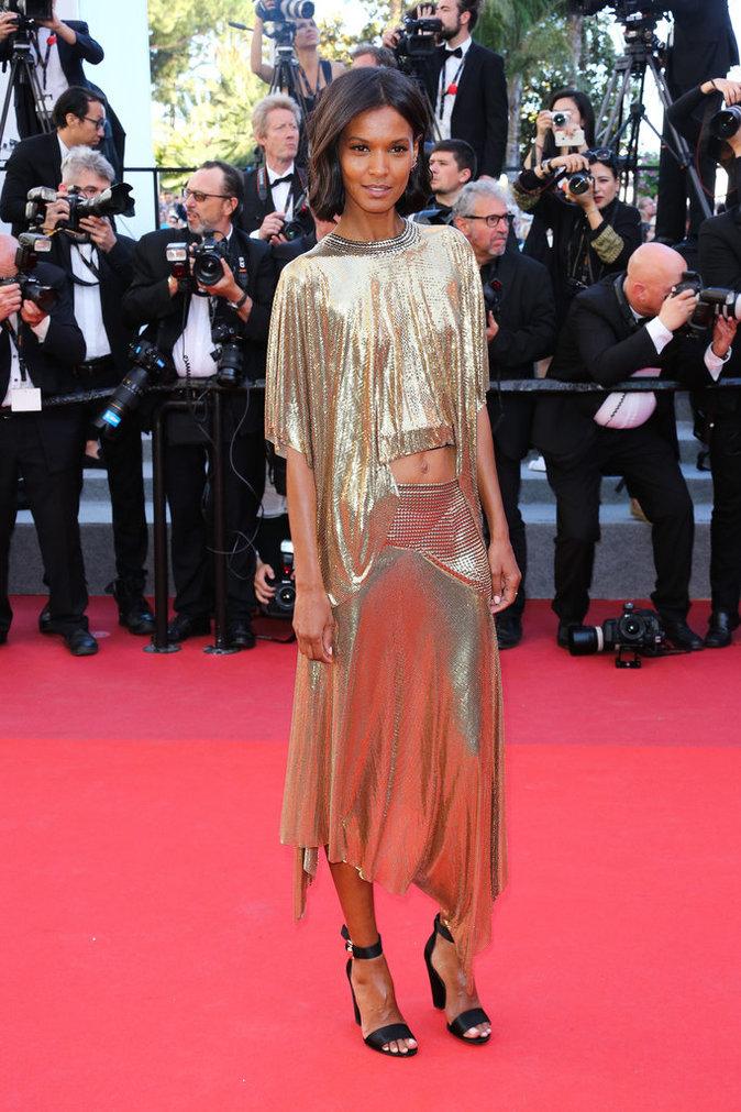 Liya Kebede en Paco Rabanne, Cannes le 20 mai