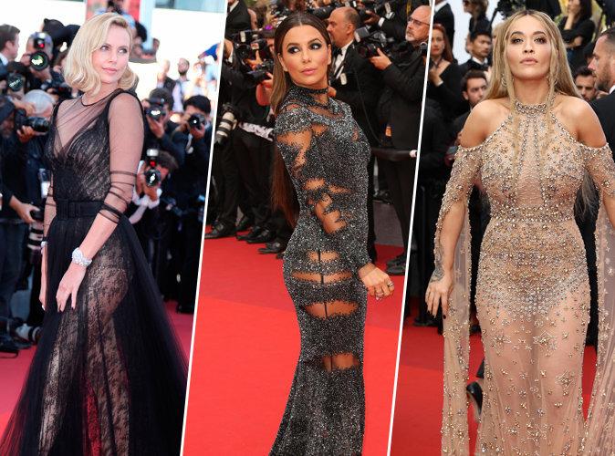 Cannes 2017 : Transparence et anatomie apparents pour Charlize Theron, Eva Longoria et Rita Ora !