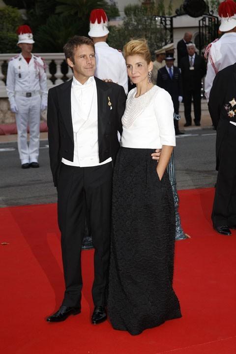 Emmanuel Philibert de Savoie et l'actrice Clotilde Courau, toujours cool !