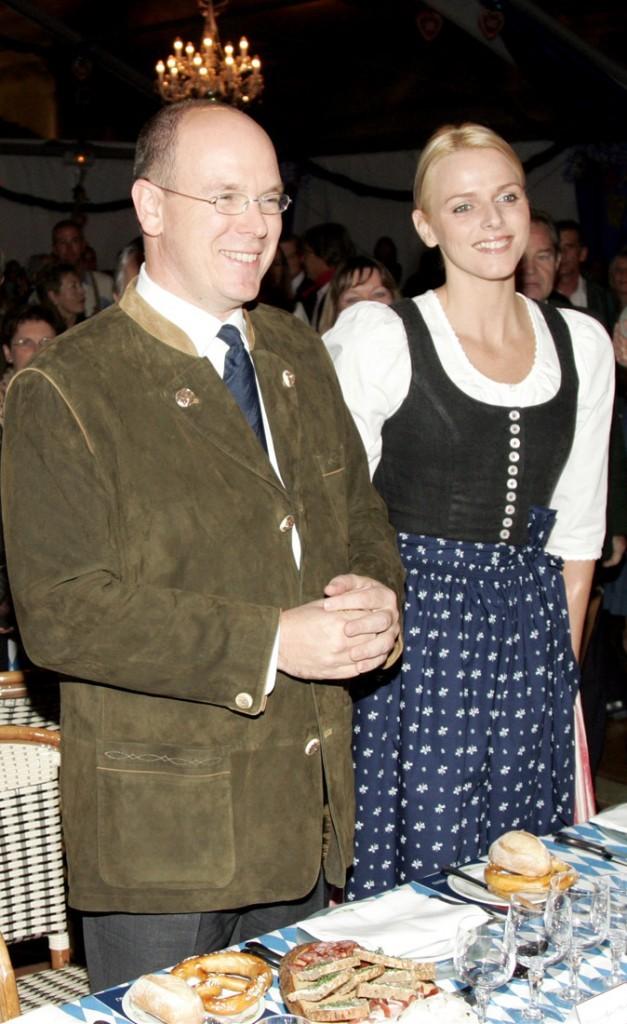 Le prince Albert et Charlene à Monaco, en 2007