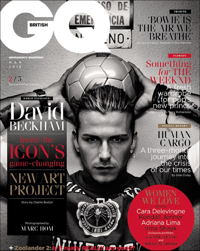David Beckam dans GQ Magazine