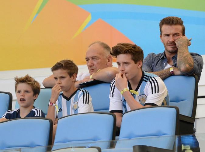 David Beckham et ses fils à Rio de Janeiro le 13 juillet 2014