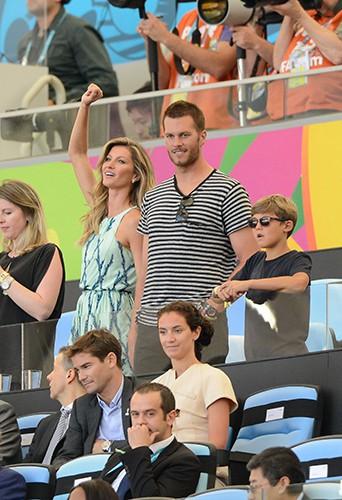 Gisele Bundchen et son mari Tom Brady à Rio de Janeiro le 13 juillet 2014