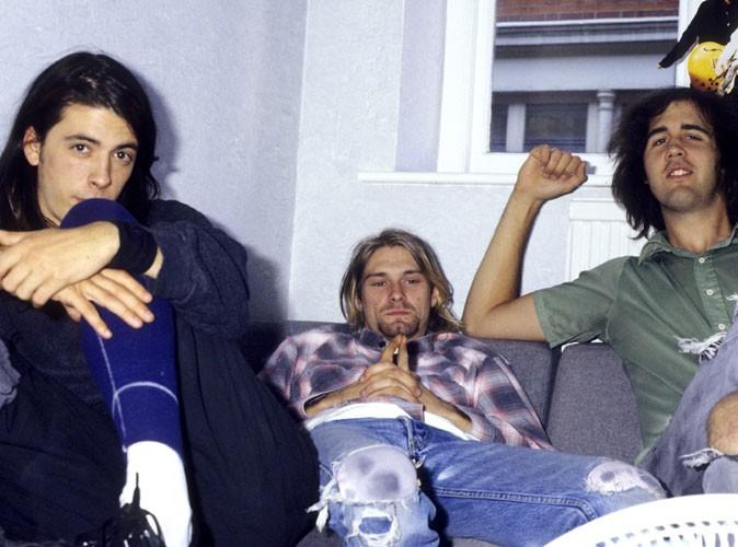 Kurt Cobain, au milieu, avec son groupe Nirvana