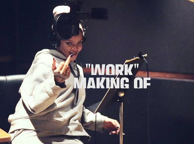 """Vidéo : Rihanna, verre de rouge et clope au bec dans le making-of de """"Work"""""""
