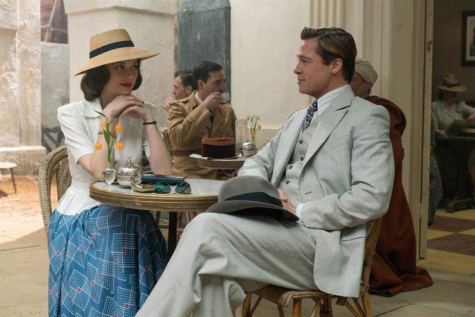 Marion Cotillard et Brad Pitt dans Alliés
