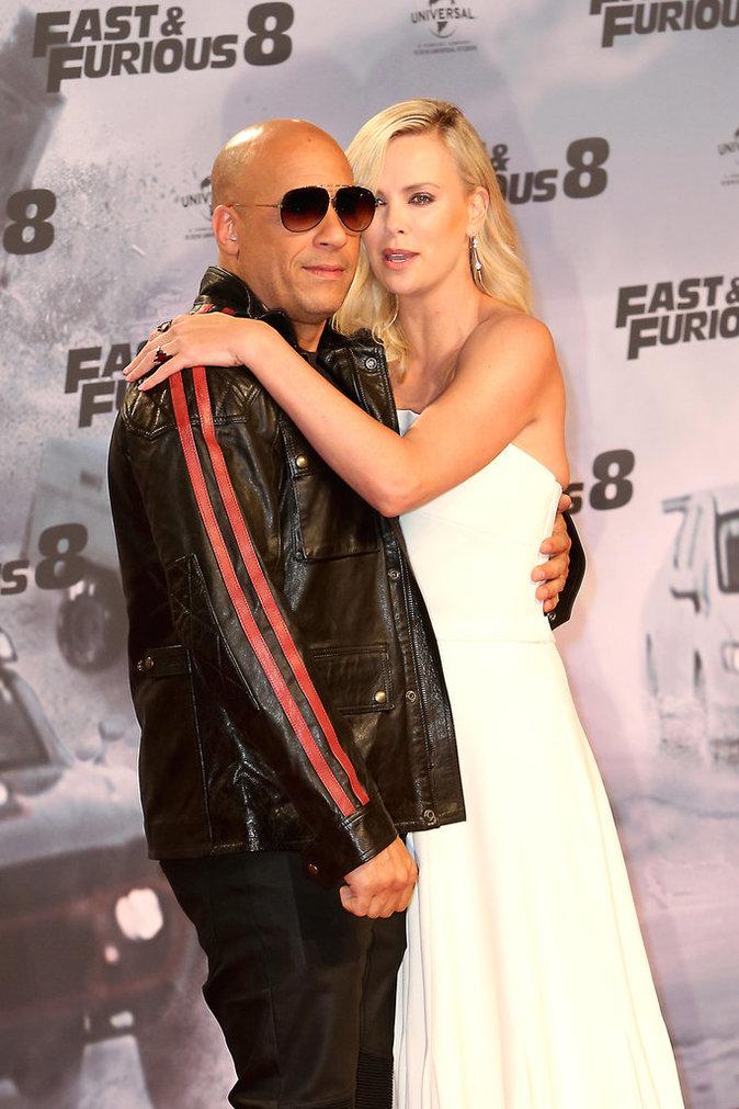 Fast & Furious 8 : Une avant-première très complice pour Vin Diesel et Charlize Theron à Berlin