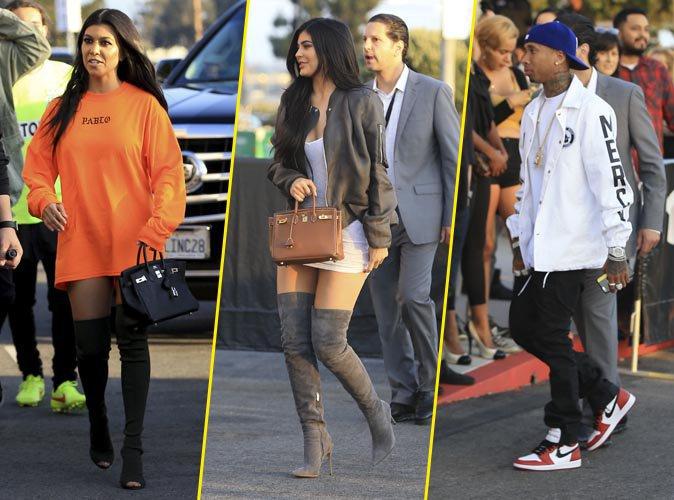 Kourtney Kardashian, Kylie Jenner, Tyga et bien d'autres � la Premi�re du clip de Kanye West