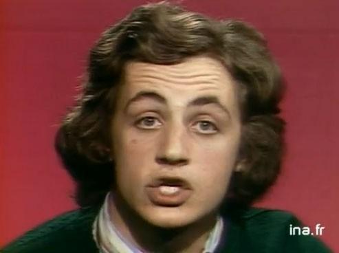 Nicolas Sarkozy apparaissait pour la première fois à la télévision en 1975 sur FR3.
