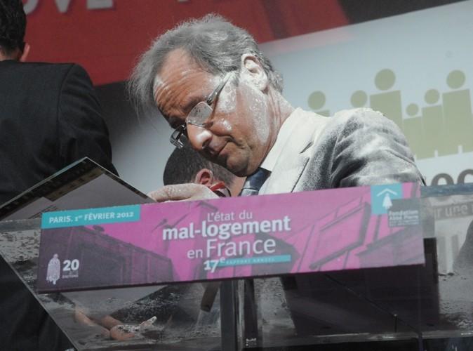 Vidéo : François Hollande : le candidat PS à la présidentielle 2012 a été enfariné !