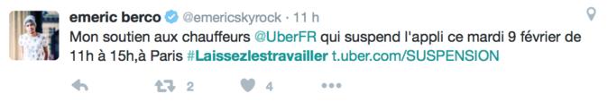 """Public Buzz : Photos : Uber """"suspendu"""" aujourd'hui, les internautes soutiennent les VTC !"""