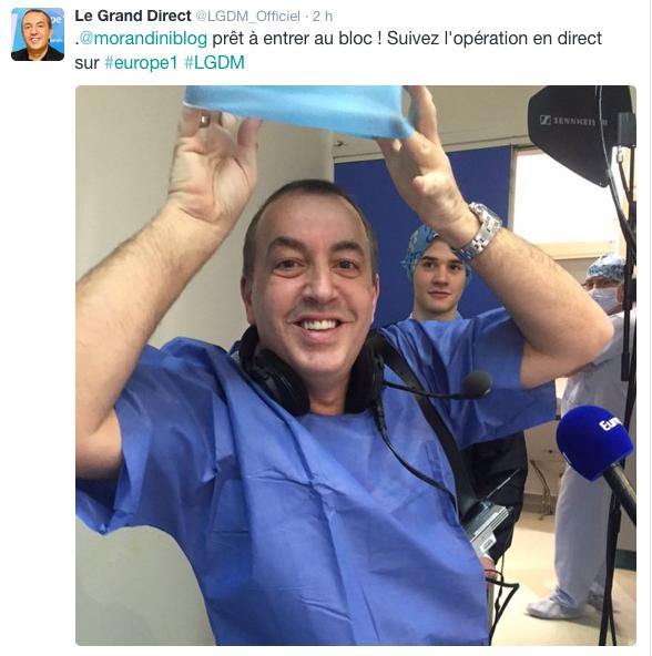 Jean-Marc Morandini en direct du bloc opératoire
