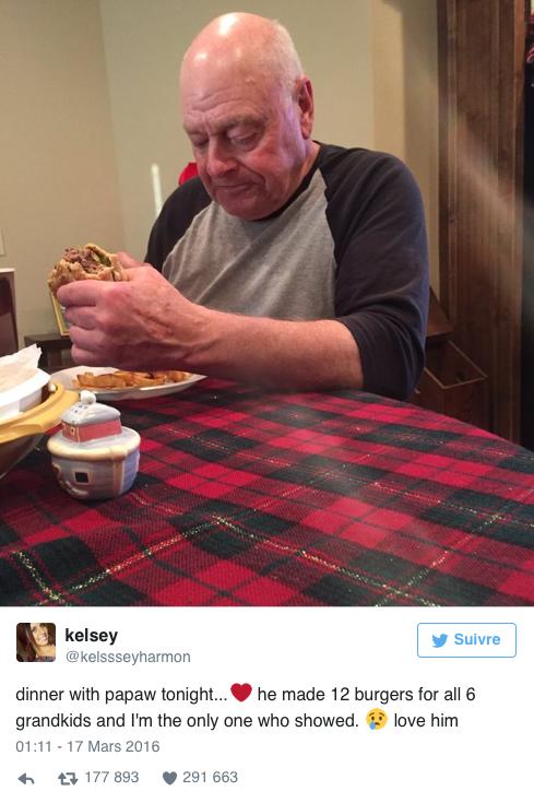 Public Buzz : Il prépare un repas pour ses petits-enfants qui ne viennent pas ! La Toile est émue !