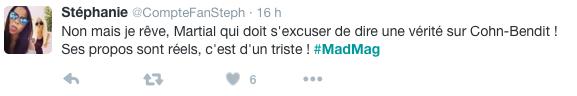 Public Buzz : Mad Mag : NRJ12 demande à Martial de s'excuser après avoir parlé de politique, la Toile s'énerve !